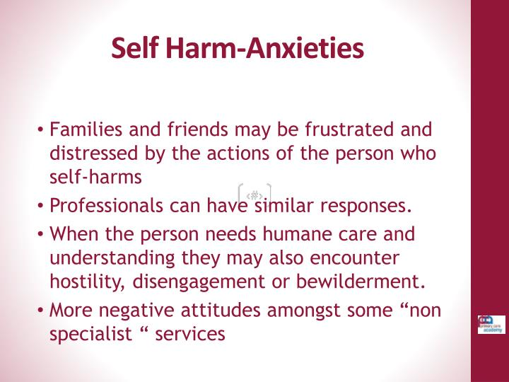 Self Harm-Anxieties