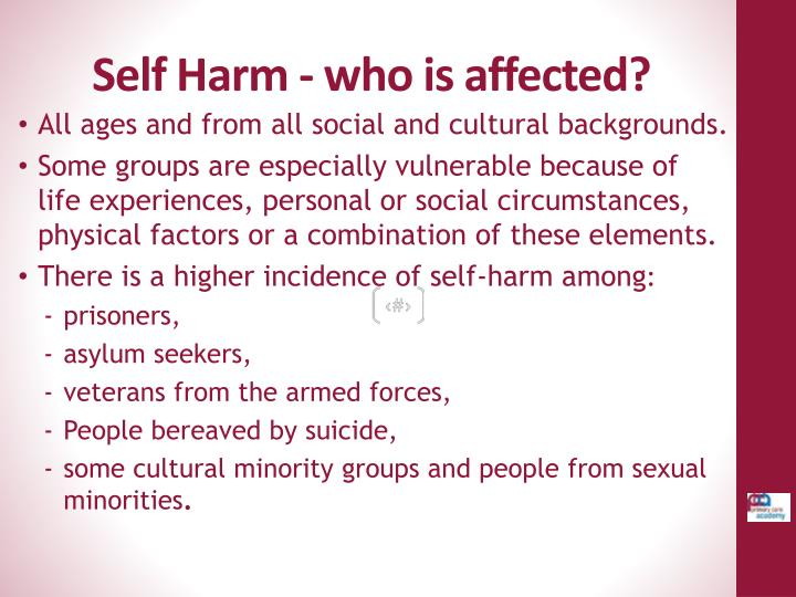 Self Harm - who is affected?