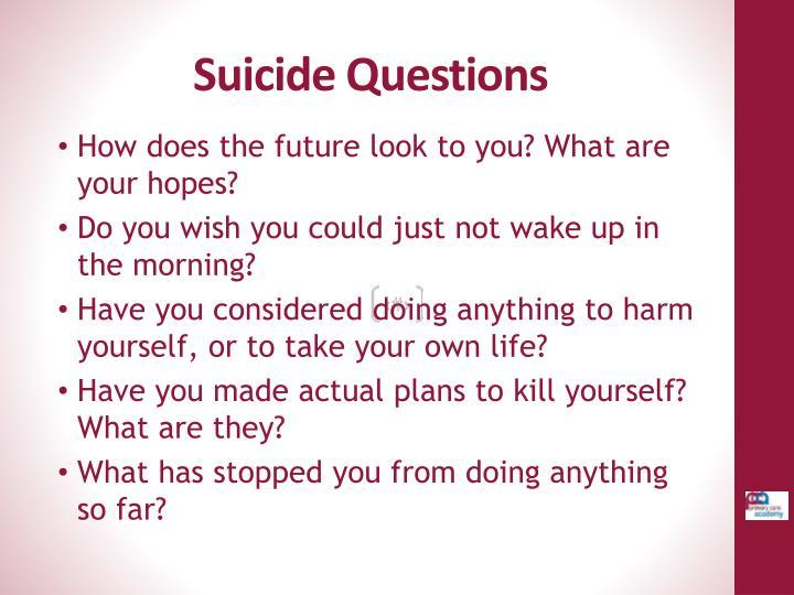 Suicide Questions