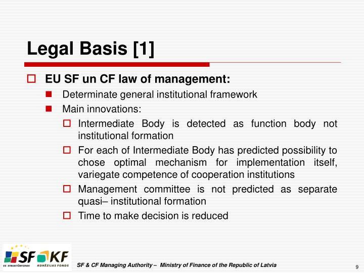 Legal Basis [1]