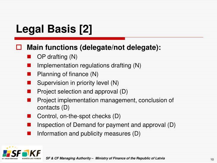 Legal Basis [2]