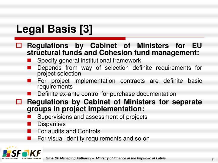 Legal Basis [3]