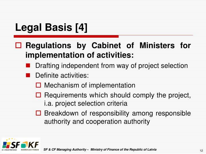 Legal Basis [4]