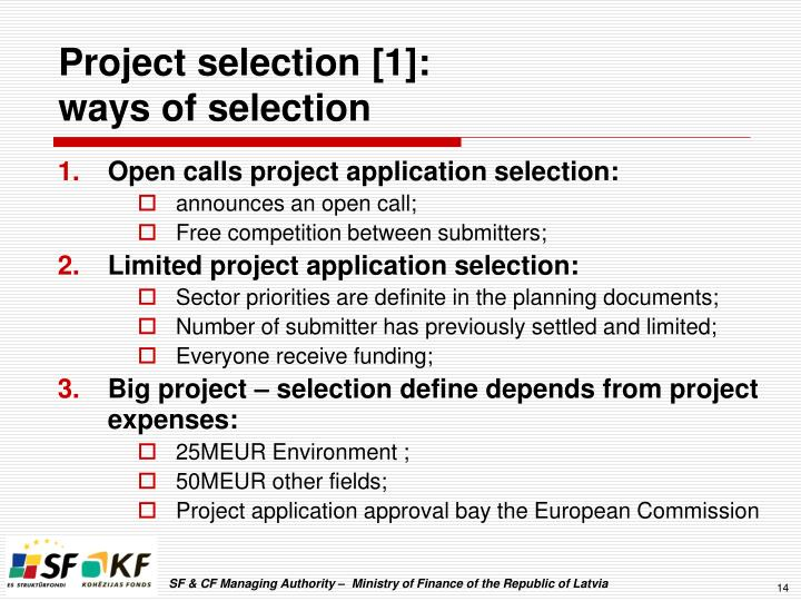 Project selection [1]:
