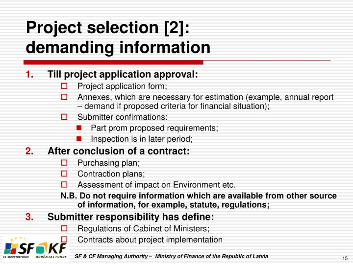 Project selection [2]: