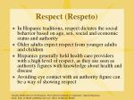 respect respeto