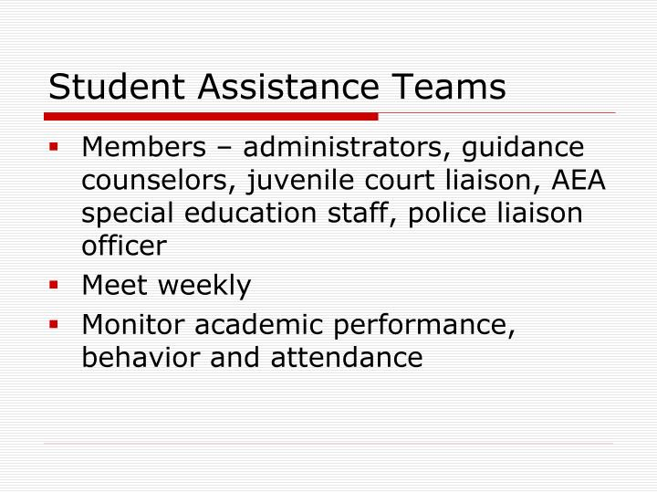 Student Assistance Teams