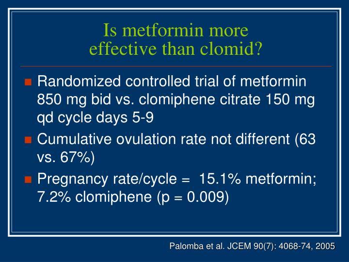 Is metformin more