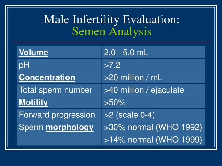Male Infertility Evaluation:
