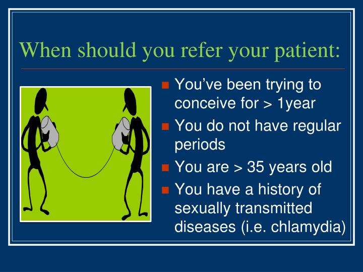 When should you refer your patient: