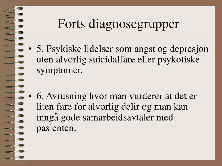 Forts diagnosegrupper