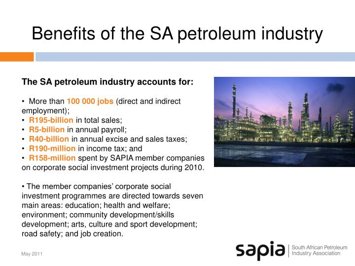Benefits of the SA petroleum industry