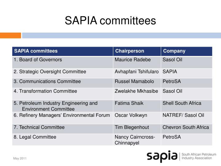 SAPIA committees
