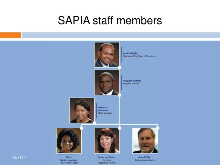 SAPIA staff members
