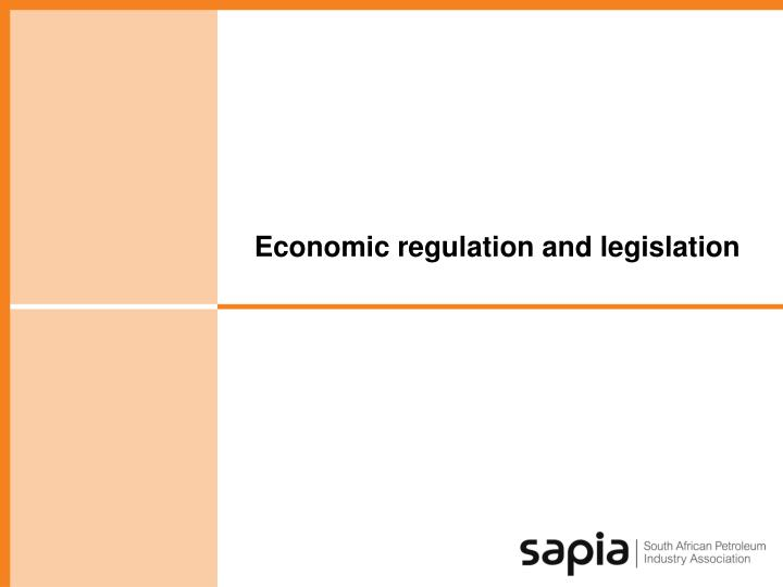 Economic regulation and legislation