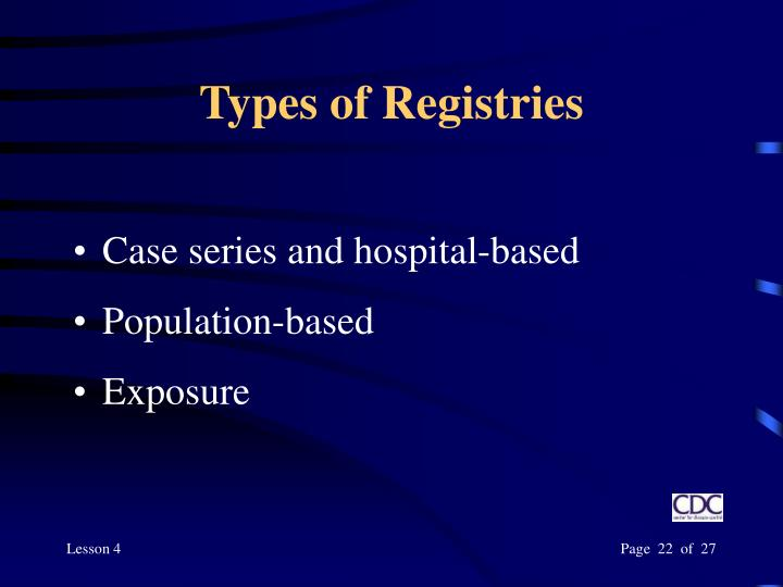 Types of Registries