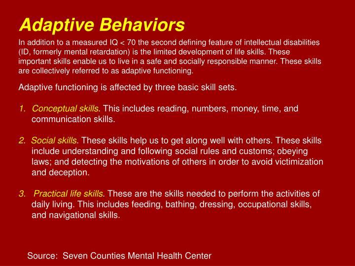 Adaptive Behaviors