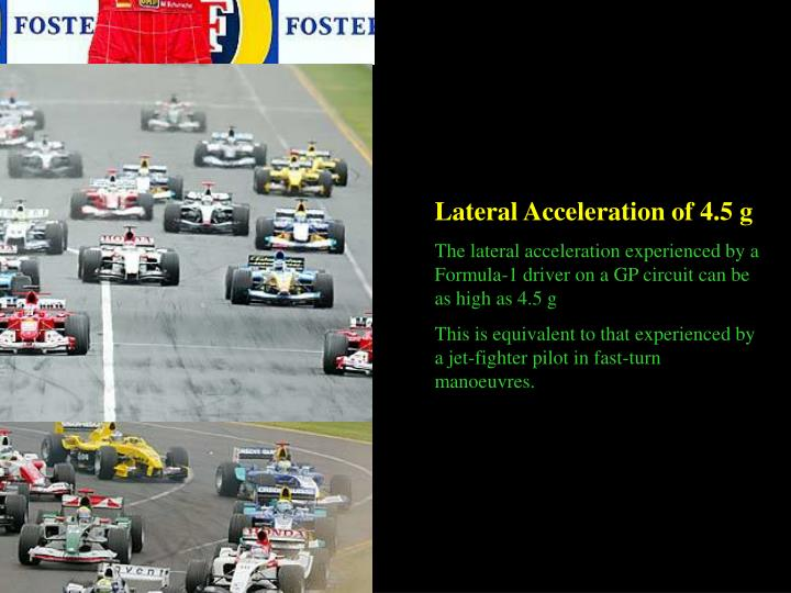 Lateral Acceleration of 4.5 g