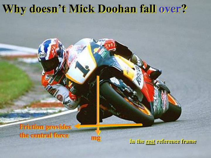Why doesn't Mick Doohan fall