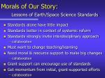 morals of our story lessons of earth space science standards