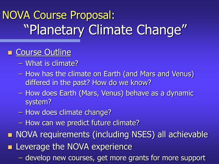 NOVA Course Proposal: