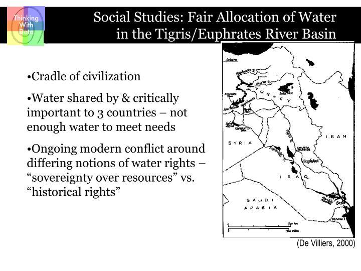 the conflict for water rights in the tigris euphrates basin Water: the limits and potential of law (forthcoming 1996) for twelve   conflict-prone river basins of the region-that of the euphrates and the  ably flat  plains of the land between the euphrates and tigris rivers to.
