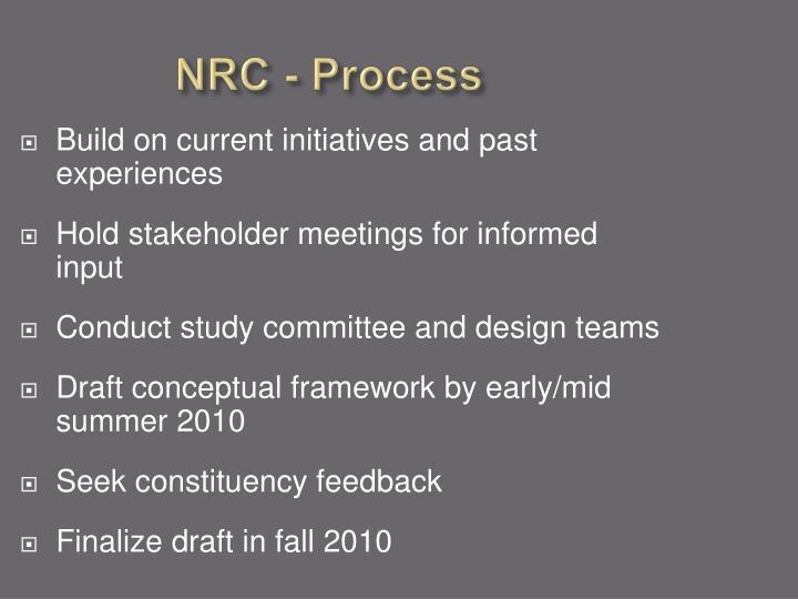 NRC - Process