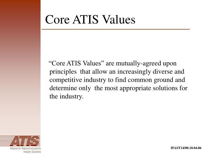 Core ATIS Values
