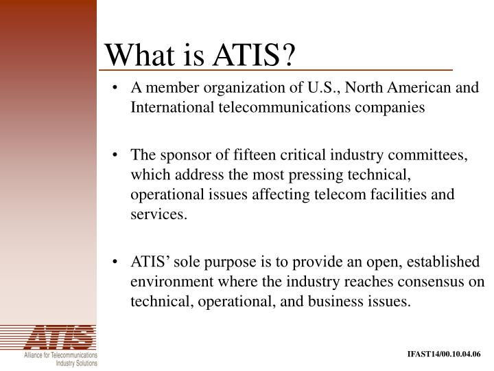 What is ATIS?