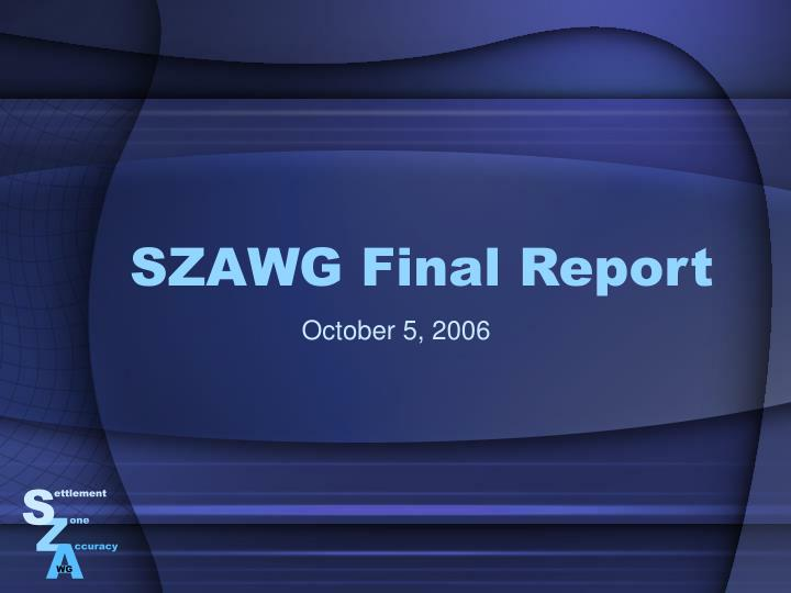 Szawg final report