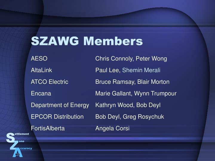 SZAWG Members