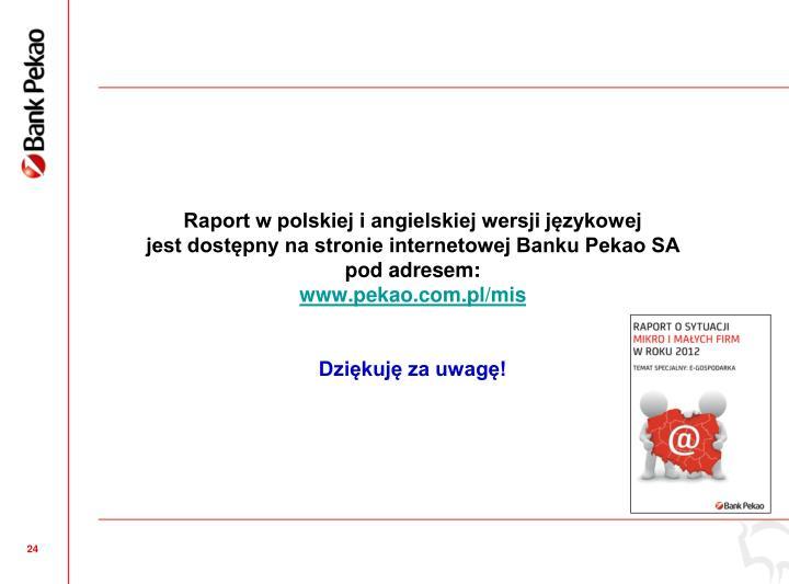 Raport w polskiej i angielskiej wersji jzykowej