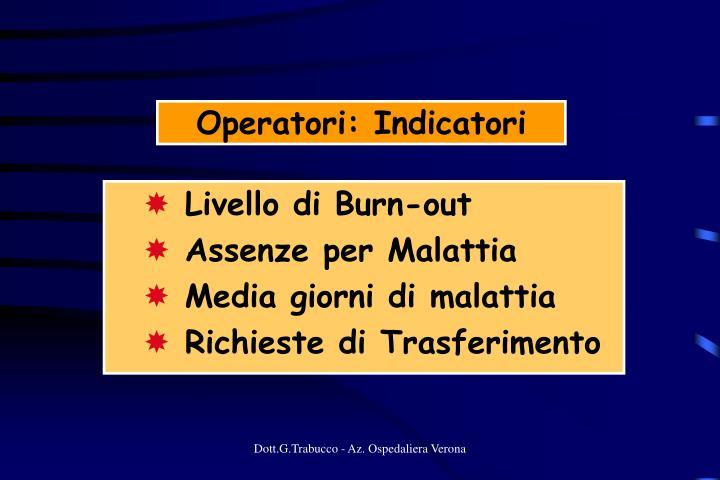 Operatori: Indicatori