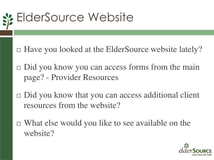 ElderSource Website