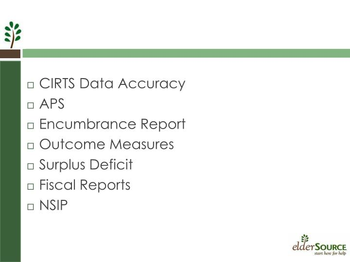 CIRTS Data Accuracy