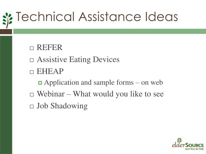 Technical Assistance Ideas
