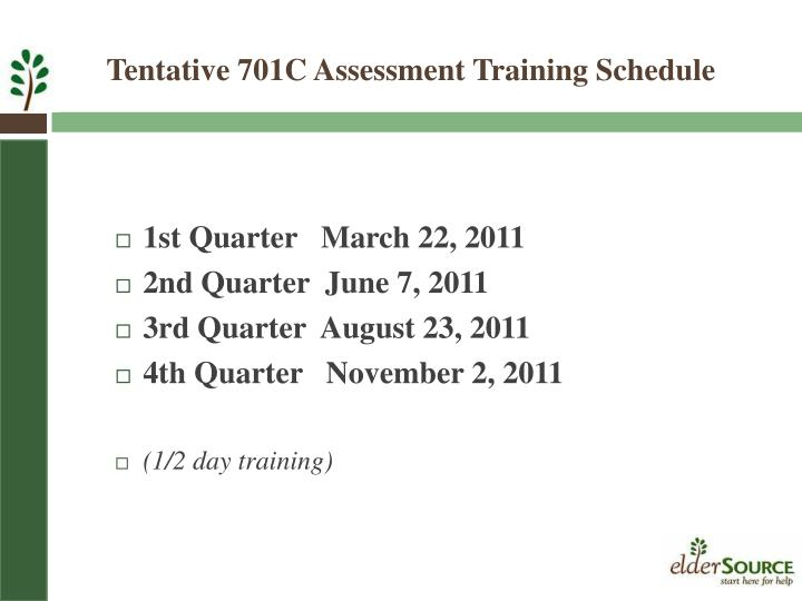 1st Quarter   March 22, 2011
