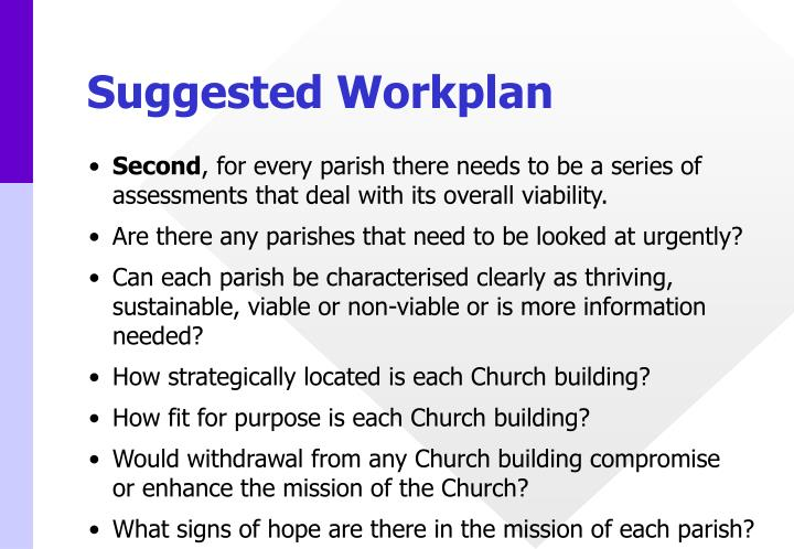 Suggested Workplan