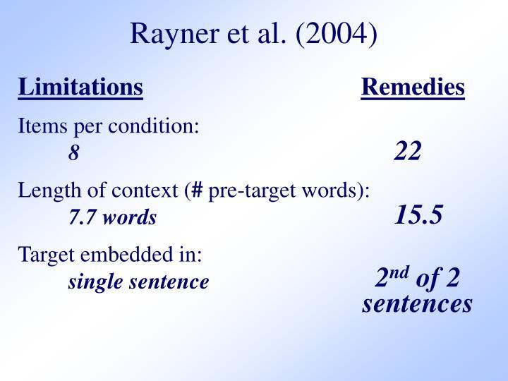Rayner et al. (2004)