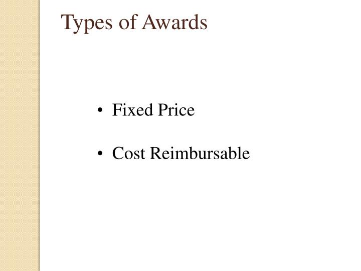 Types of Awards