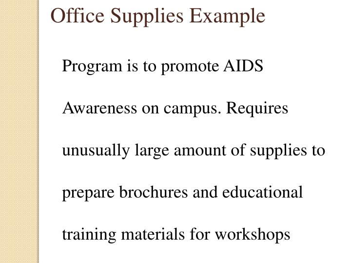 Office Supplies Example