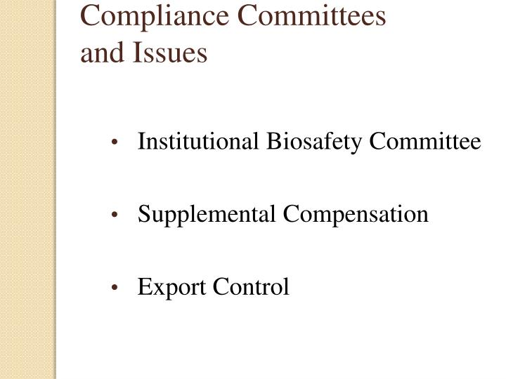 Compliance Committees