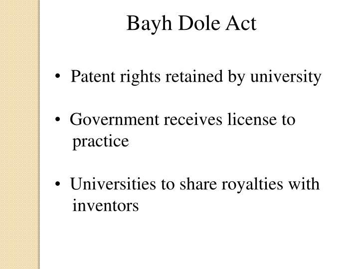 Bayh Dole Act