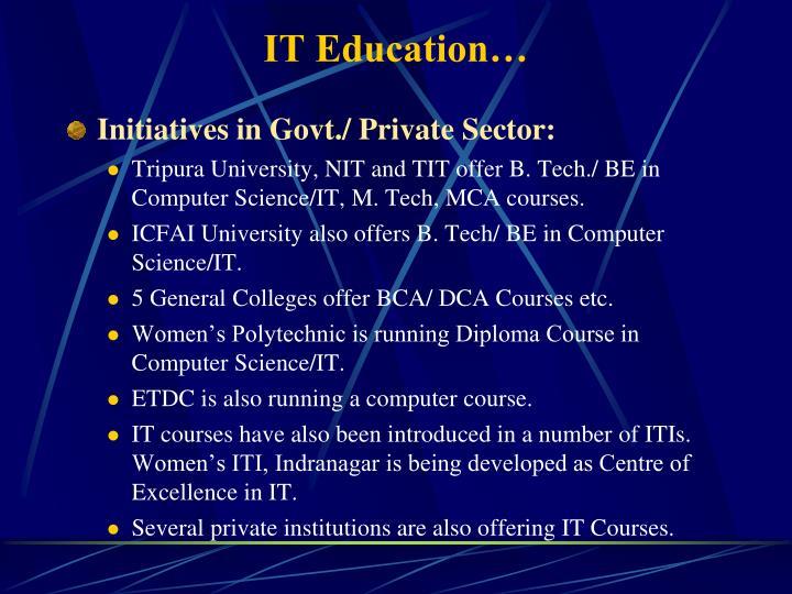 IT Education…