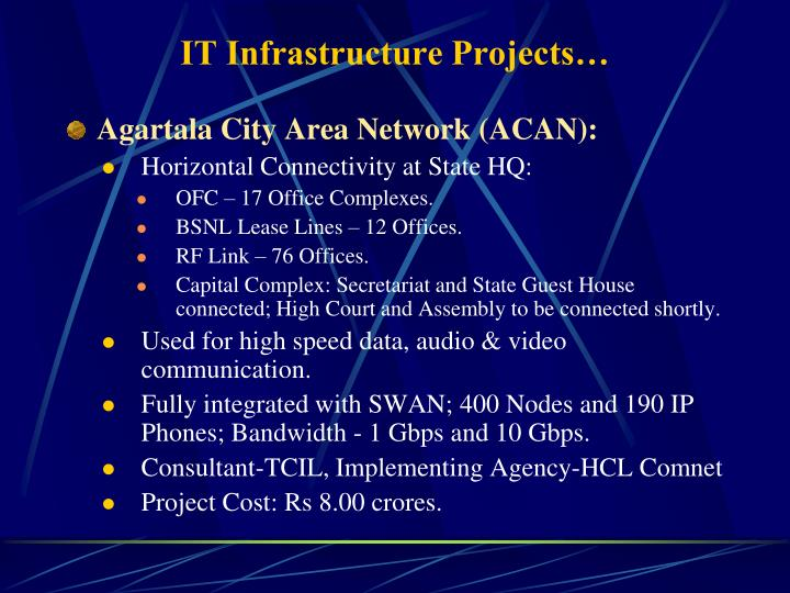 IT Infrastructure Projects…