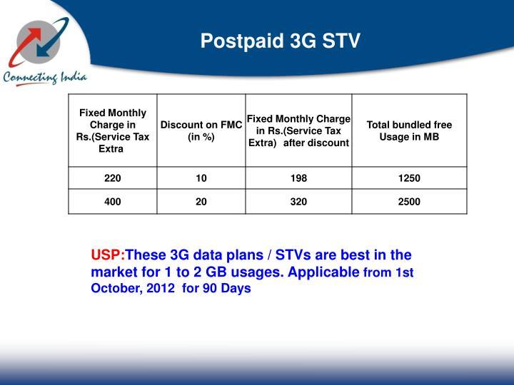 Postpaid 3G STV