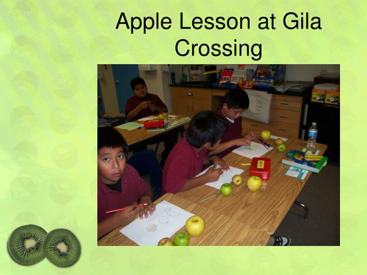 Apple Lesson at Gila Crossing