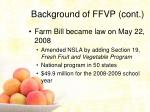 background of ffvp cont