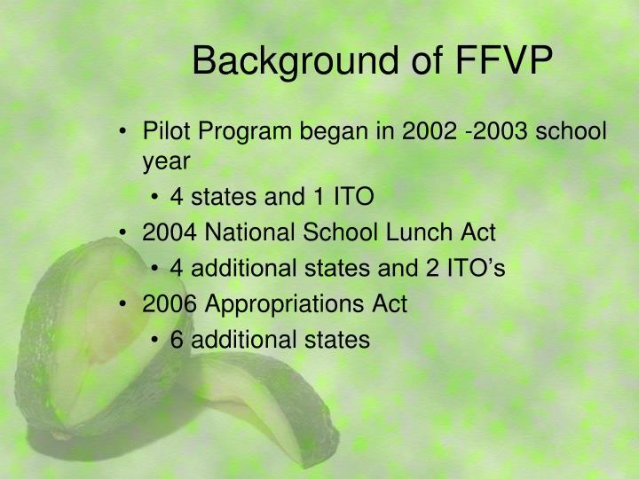 Background of FFVP