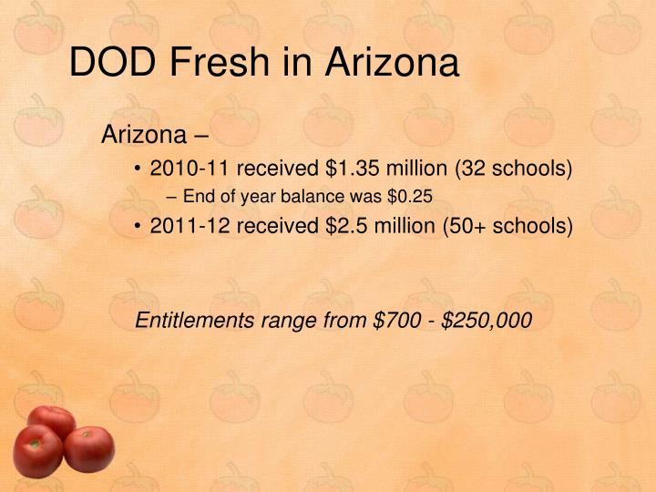 DOD Fresh in Arizona
